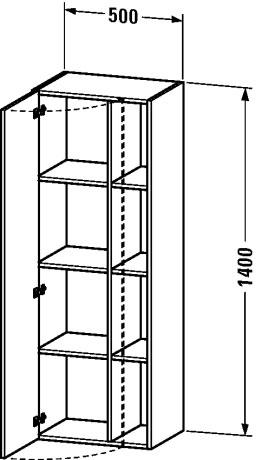 Duravit durastyle muebles de ba o armario columna for Armario columna de bano