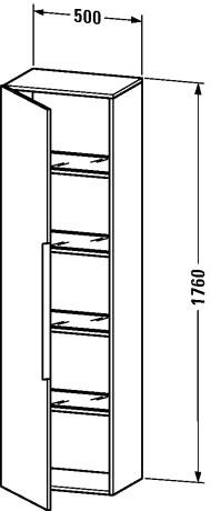 Duravit happy d 2 muebles de ba o armario columna for Armario columna bano