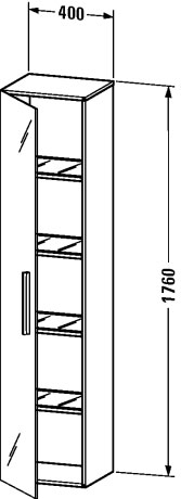 Duravit vero muebles de ba o armario columna ve1126 l - Armario columna bano ...