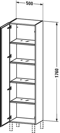 Duravit l cube muebles de ba o armario columna lc1181 for Armario columna de bano
