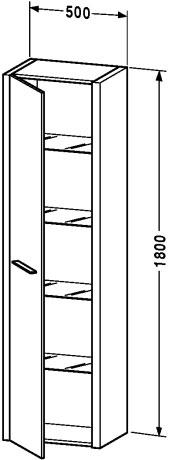 Duravit 2nd floor muebles de ba o armario columna for Armario columna bano