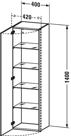 Duravit durastyle muebles de ba o armario columna ds1219 l r de duravit - Armario columna bano ...