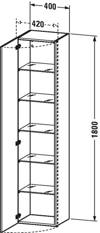 Duravit durastyle muebles de ba o armario columna for Armario columna bano