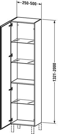 Duravit l cube muebles de ba o armario columna for Armario columna de bano